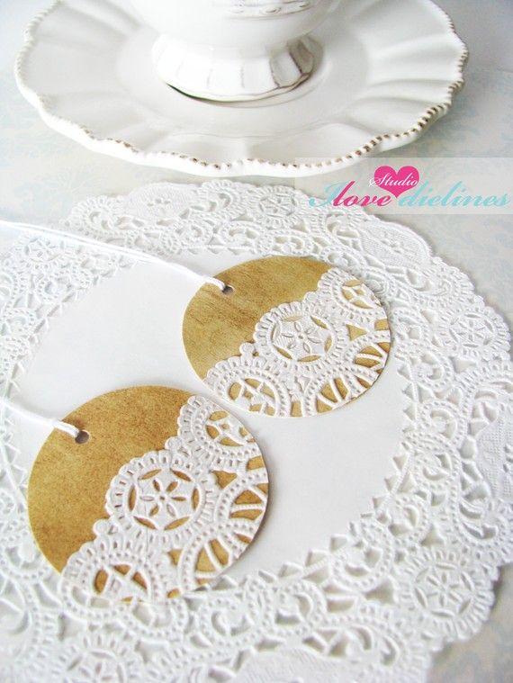 Бумажные ажурные салфетки круглые