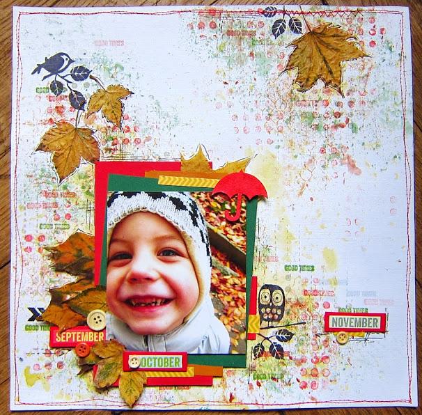 скрап страничка на тему осень