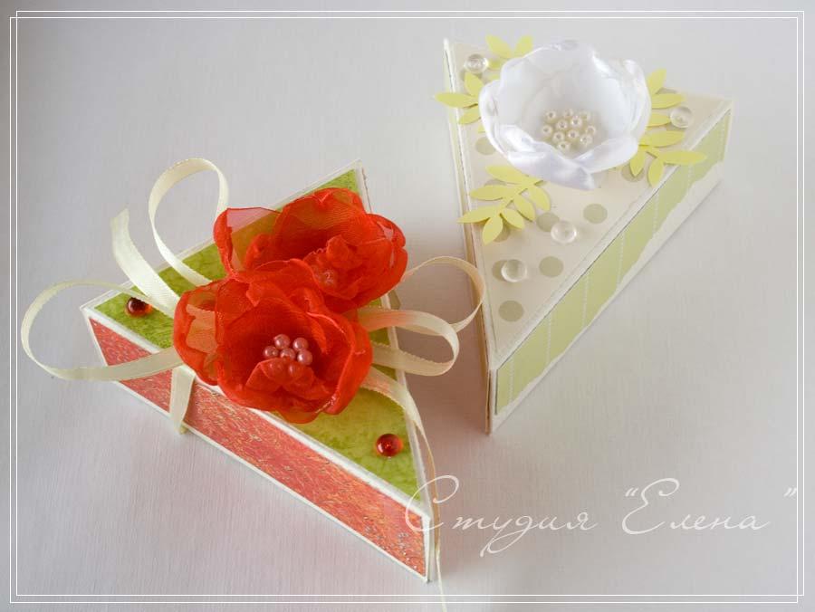 Подарочная коробка для торта своими руками 848