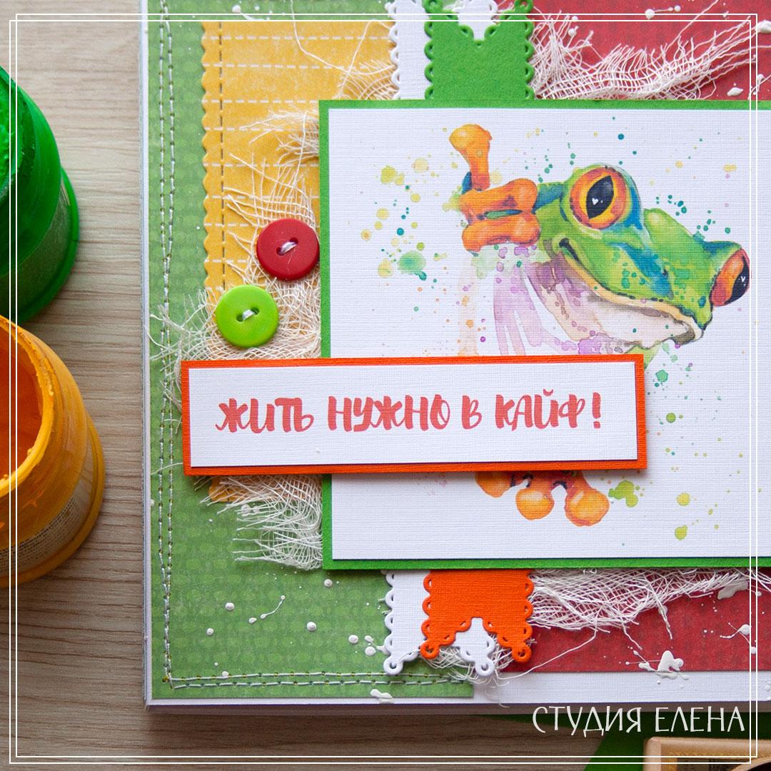 прикольная открытка - лягуха или песик?
